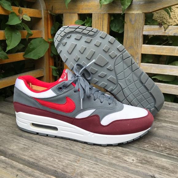 newest 485ac b15a5 Sneakers Poshmark Air Shoes Whiteburgundygrayred Max Nike 1 wxUTnqFCF